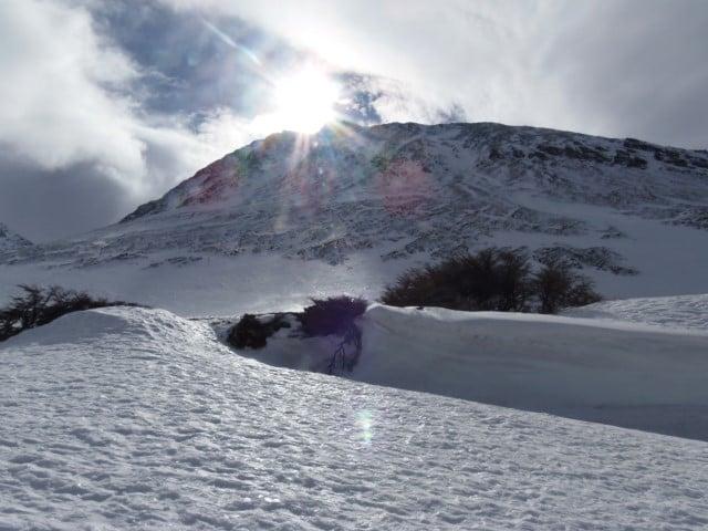 Centros de esportes de inverno Glaciar Martial na Terra do Fogo na Argentina