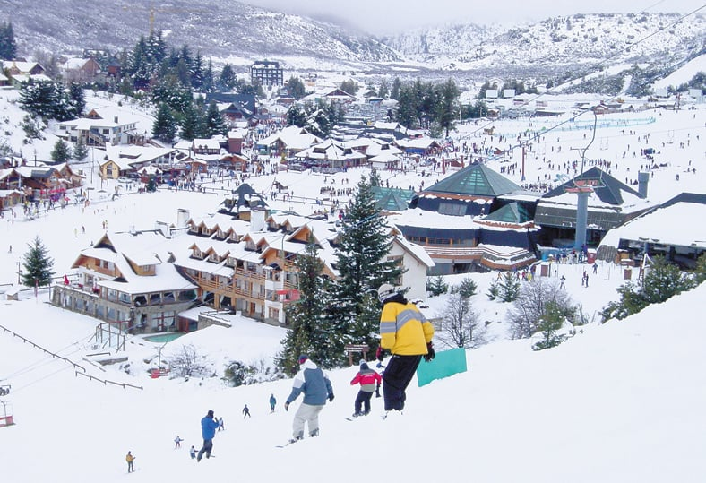 Estação de esqui Cerro Catedral na Argentina