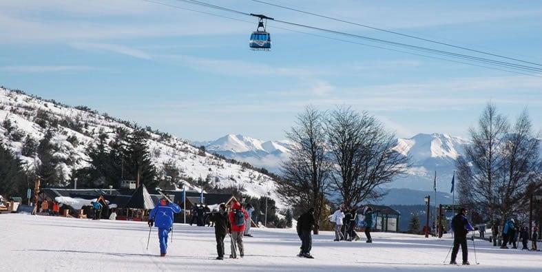 Pista de esqui Cerro Catedral na Argentina