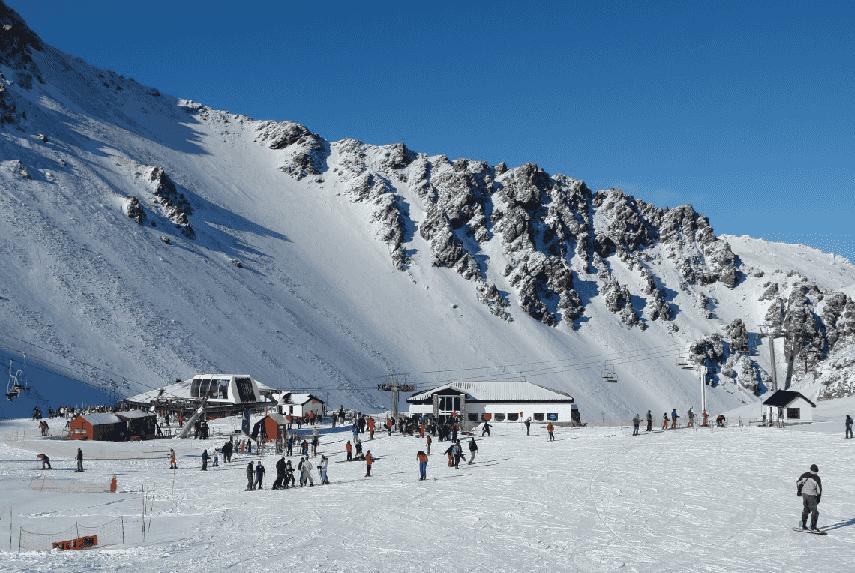 Estação de esqui La Hoya na Argentina