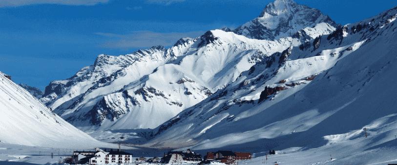 Estação de esqui Penitentes na Argentina