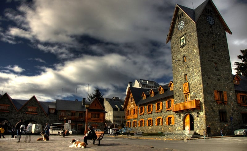 O mapa turístico de Bariloche