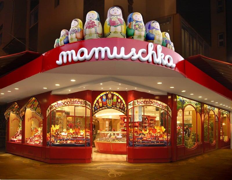Loja de Chocolate Mamuschka em Bariloche