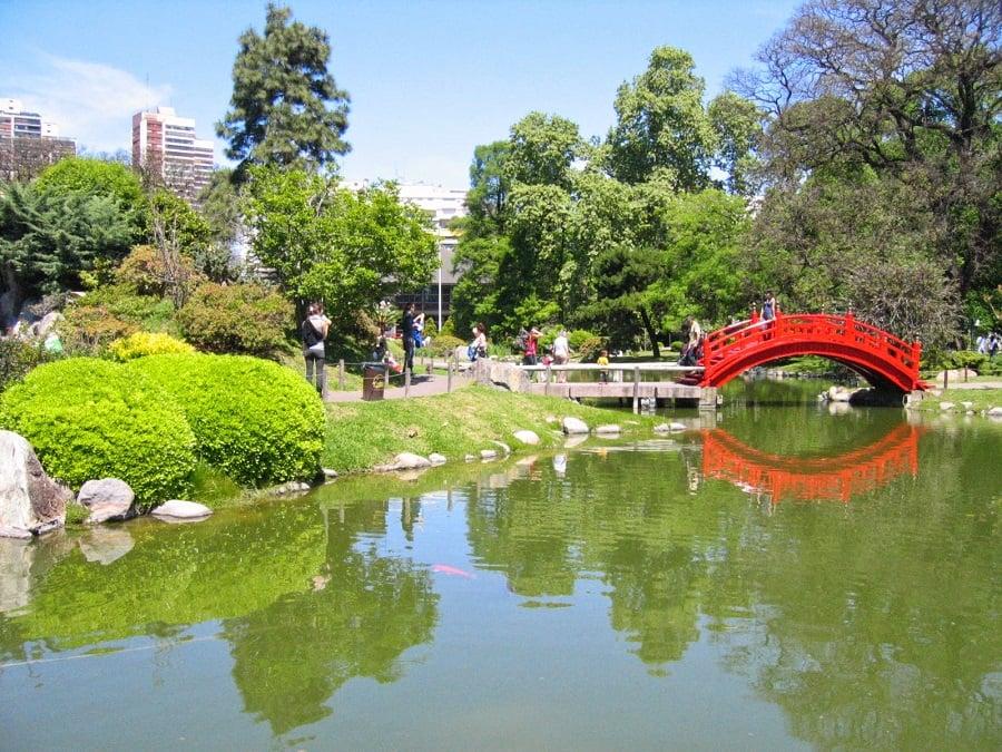 Jardim Japonês nos Bosques de Palermo