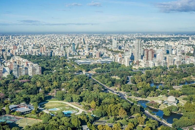 Bosques de Palermo em Buenos Aires