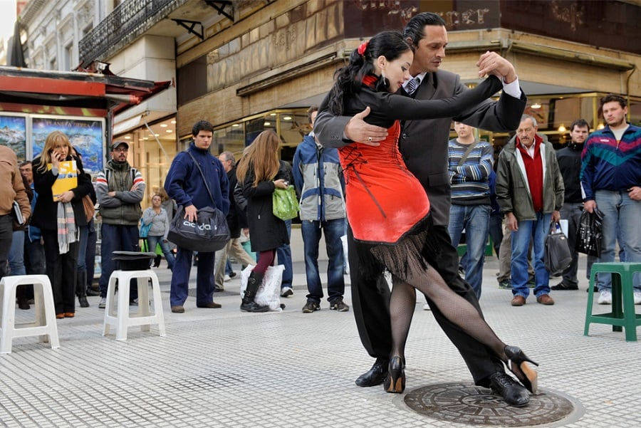 Onde assistir tango na rua em Buenos Aires: Calle Florida
