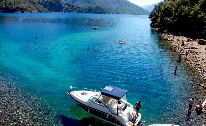 Remessas internacionais para Bariloche: praia Villa Tacul