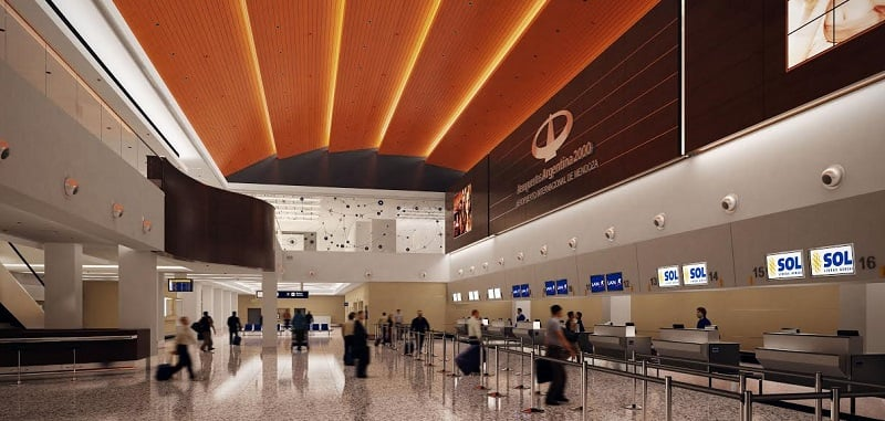 Estrutura e serviços do aeroporto de Mendoza