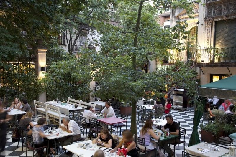 Restaurante no Museu Evita