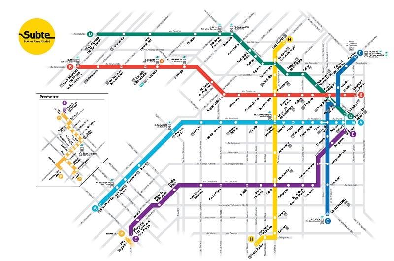 Como andar de metrô em Buenos Aires