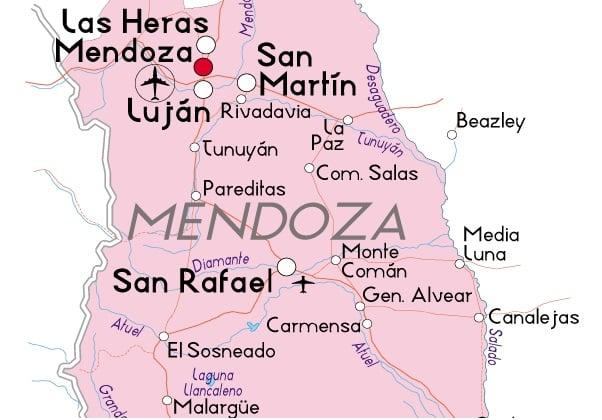 Mapa de Mendoza, Argentina