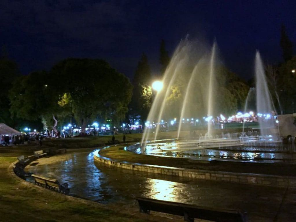 Plaza Independecia em Mendoza na Argentina