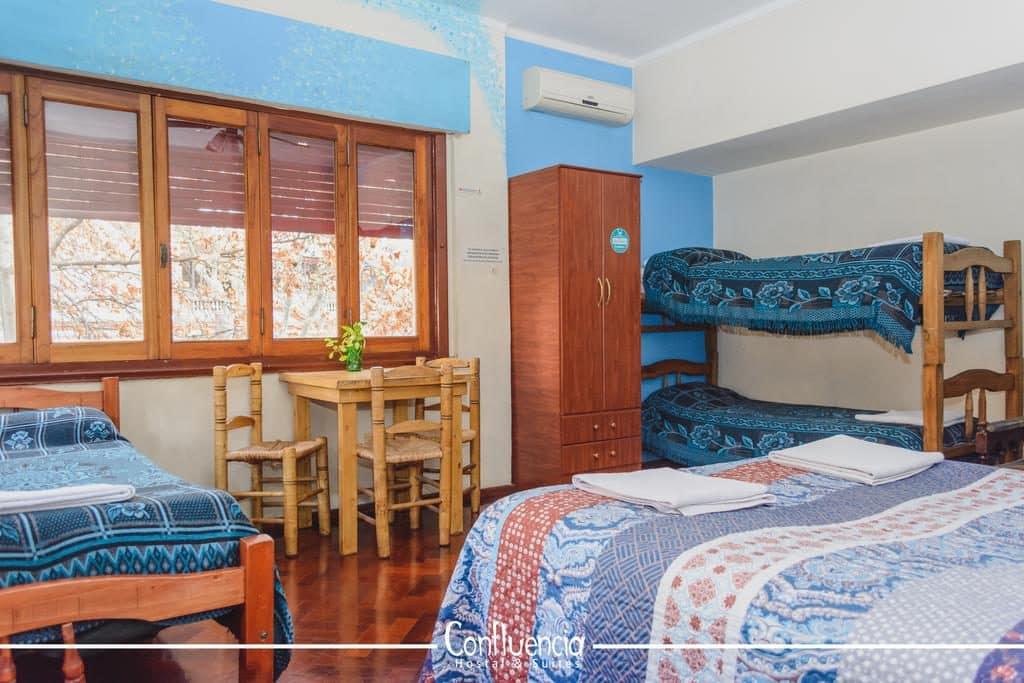 Quarto do Hostel Confluencia em Mendoza