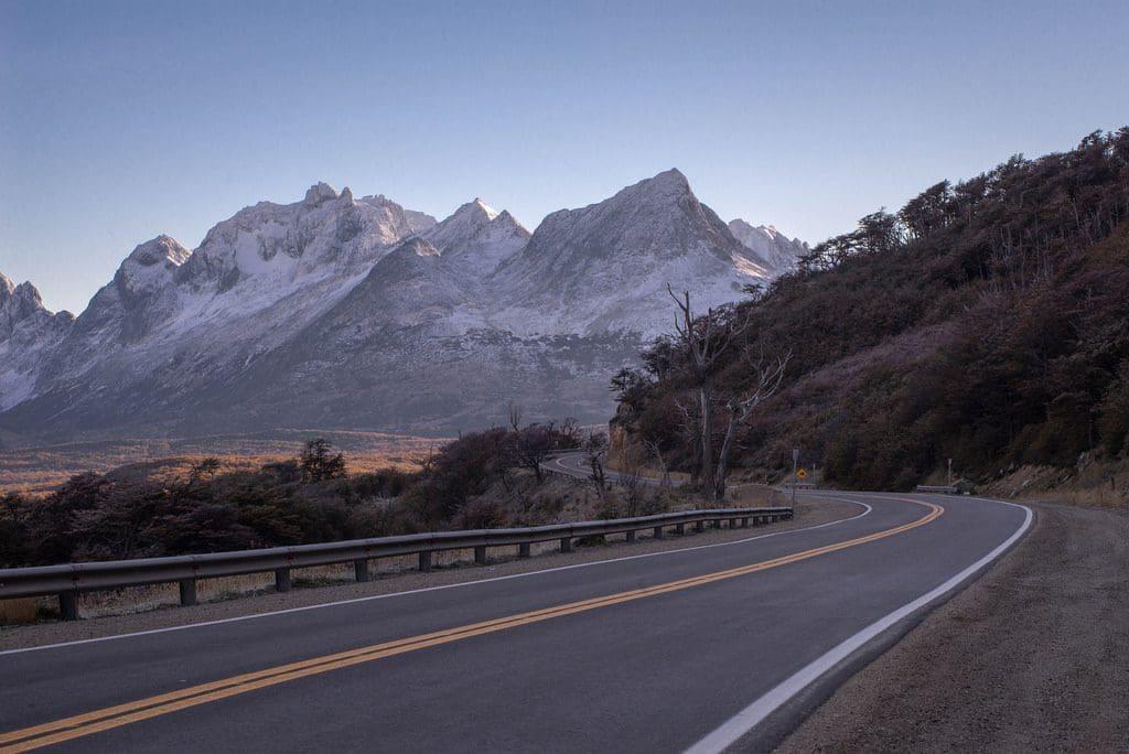 Estrada em Ushuaia, Argentina
