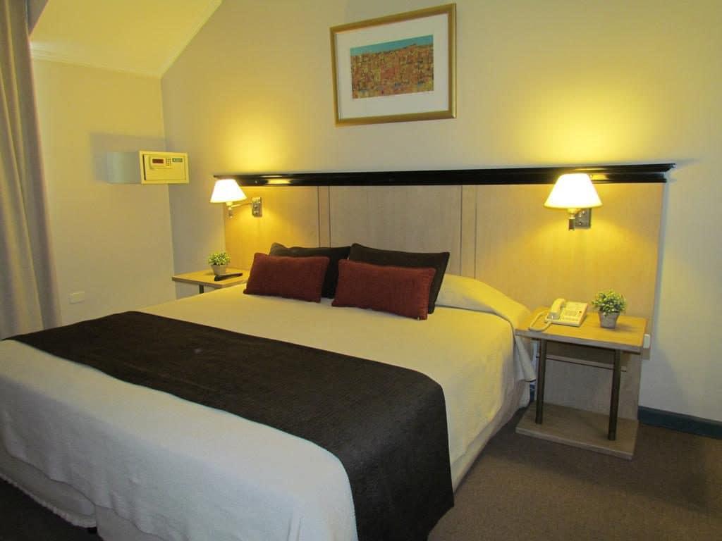 Quarto no Hotel Argentino em Mendoza