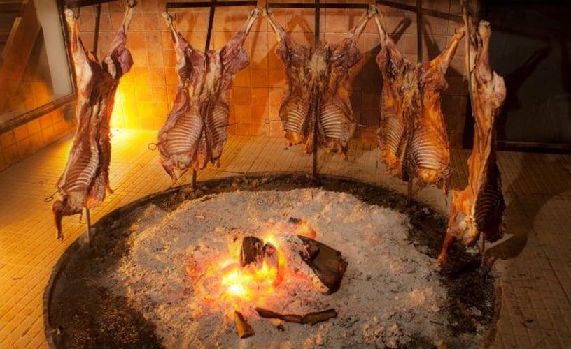 Cordeiro patagônico do Restaurante La Tablita em El Calafate