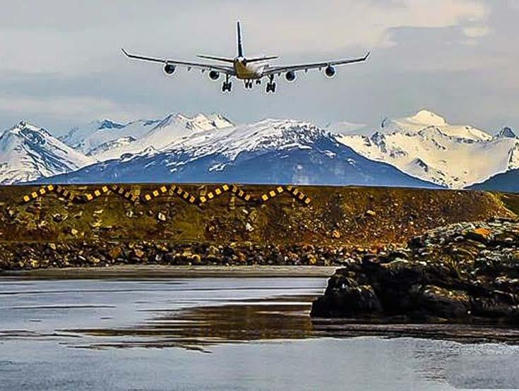 Tempo de avião até Ushuaia