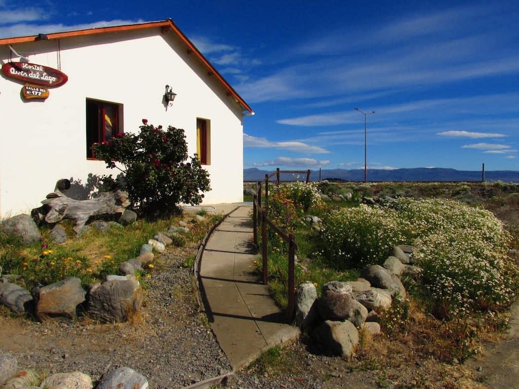 Fachada do Hostel Aves del Lago em El Calafate