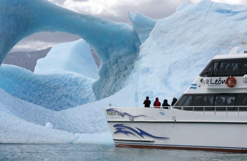 Passeio de barco no Parque Nacional Los Glaciares em El Calafate