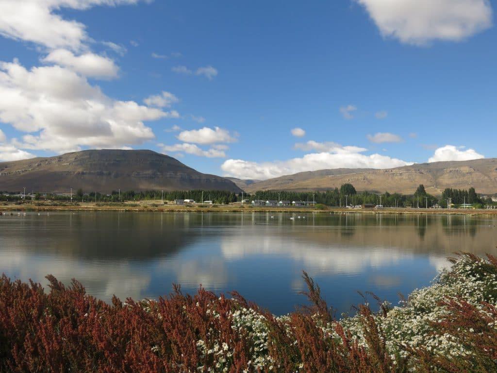 Reserva Laguna Nimez em El Calafate durante o verão