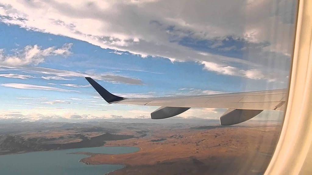 Quanto custa uma passagem aérea para El Calafate: Vista do avião para El Calafate