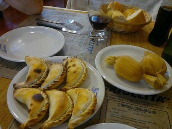 Empanadas do Restaurante La Criollita em Salta