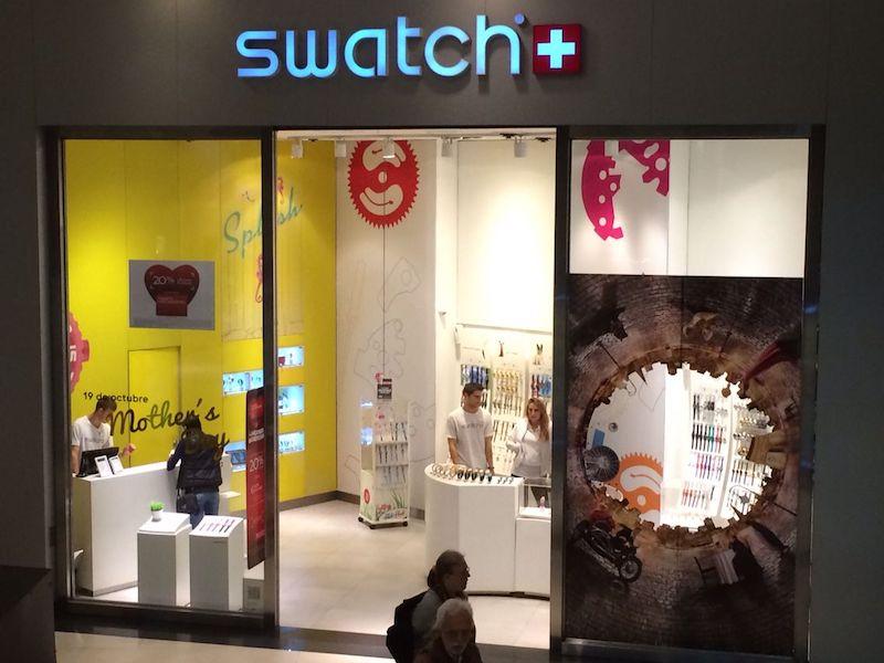 Onde comprar relógios em Buenos Aires: Swatch no shopping Alto Palermo
